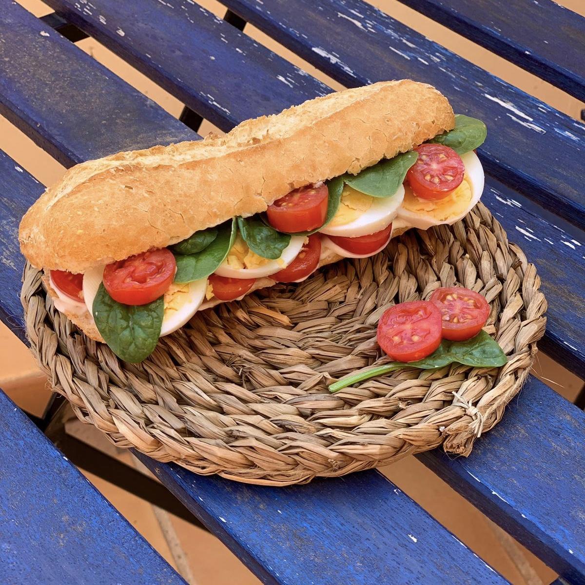 Baguetina Sin Gluten Con Queso Vegano